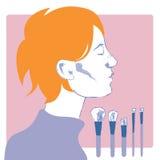 Profil d'une jeune femme Image stock