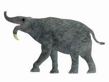 Profil de côté de Deinotherium illustration stock