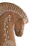 Profil de droite de cheval d'argile Photographie stock