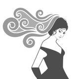 Profil de femme Images stock