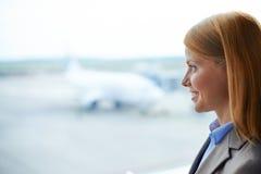 Profil de femme d'affaires Photos libres de droits