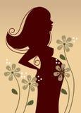 Profil de femme enceinte Photographie stock libre de droits