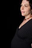 Profil de femmes enceintes Images libres de droits