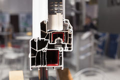 Profil de fenêtre de PVC Photos libres de droits