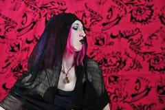 Profil de goth Images libres de droits