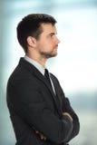 Profil de jeune homme d'affaires Photo stock