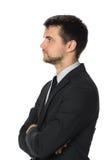 Profil de jeune homme d'affaires Image stock