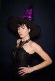Profil de jeune sorcière Photo stock