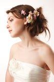 Profil de jeunes mariées Photos stock