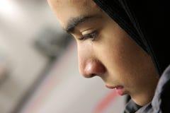 Profil de l'adolescence mâle Photos stock