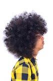 Profil de l'homme avec le long cheveu Photographie stock libre de droits