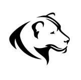 Profil de lionne Image libre de droits