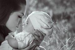 Profil de mère et de fils Image libre de droits