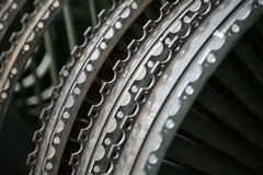 Profil de moteur de turbine Technologies d'aviation Jet d'avions Image libre de droits
