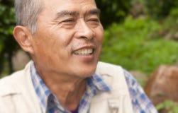 Profil de plan rapproché sur un sourire Photographie stock