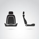 Profil de siège de voiture et icône avant Images stock