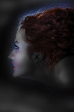 Profil de sorcière Photo stock