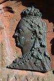 Profil de soulagement en métal, la Reine Victoria, Jedburgh photo stock