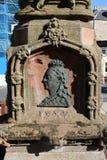 Profil de soulagement en métal, la Reine Victoria, Jedburgh image stock