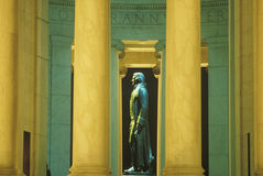 Profil de statue de Thomas Jefferson, Jefferson Memorial, Washington, C.C Photos libres de droits