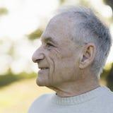 Profil de vieil homme Images stock