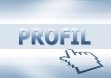 Profil del Internet   Imagenes de archivo