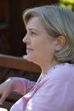 Profil der Frau Stockfoto