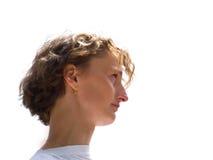Profil der Frau lizenzfreie stockbilder