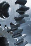 Profil der Gänge gegen Aluminium Stockbild