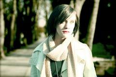 Profil der jungen Frau Lizenzfreies Stockfoto