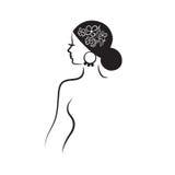 Profil der schönen Frau Lizenzfreies Stockbild