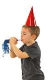 Profil des durchbrennengeräuschherstellers des Jungen Stockbild