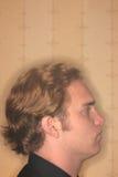 Profil des jungen Mannes Stockbilder