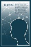 Profil des Kopfes eines Mannes Dieses ist Datei des Formats EPS10 Lizenzfreies Stockfoto