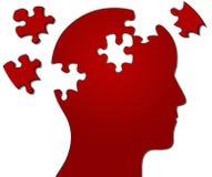 Profil des Kopfes mit der zackigen Stückverfehlung Lizenzfreies Stockfoto