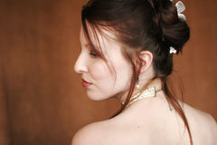 Profil einer Frau stockfotos