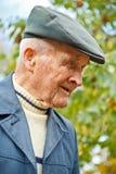 Profil eines alten Mannes Lizenzfreies Stockbild