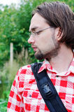 Profil eines jungen Mannes lizenzfreie stockfotos