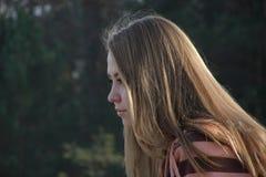 Profil eines Mädchens Lizenzfreies Stockbild