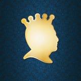 Profil eines Mannes, der eine Krone trägt lizenzfreie abbildung