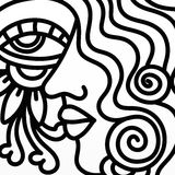 Profil en noir et blanc illustration stock