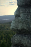 Profil en pierre Photos stock