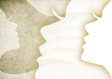 profil för tappninghöjdpunkttangent av kvinnaskönhet Fotografering för Bildbyråer