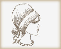 Profil femelle Photos stock