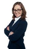 Profil latéral d'un cadre d'affaires ambitieux photo libre de droits
