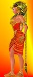 Profil latéral, reine égyptienne de pharaon Photographie stock libre de droits