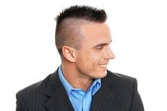 Profil młody człowiek obrazy stock