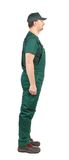 Profil Man in green  overalls Royalty Free Stock Photo