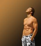 Profil modèle de forme physique Photos libres de droits