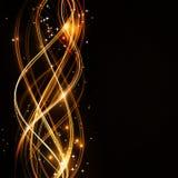 Profil onduleux abstrait avec des étoiles Photographie stock libre de droits